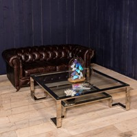 Large SQ Chrome coffee table