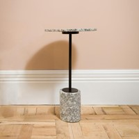 Grey Madrid Marble Side Table
