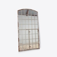 Grey Factory Window Mirror