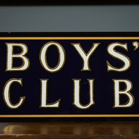 Modern - Hand Painted Boys Club Sign