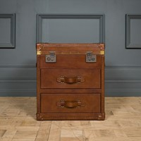 Leather Trunk Side Tables