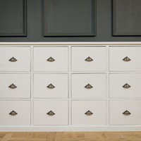 White Painted 12 Bank of Drawers