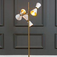 Contemporary Floor Standing Trio Lamp