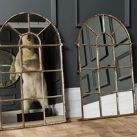 Small Cast Iron Arched Mirror
