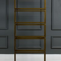 Contemporary bronze shelving unit