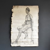 Life-Sized Charcoal Nude Study