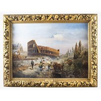 Antique Painting of The Colosseum François Gérard