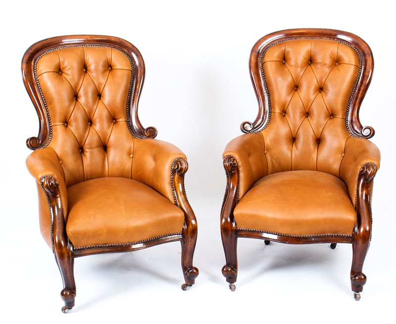 Antique Pair Victorian Mahogany Leather Armchairs-regent-antiques-a1219-antique-pair-english-victorian--mahogany-spoonback-leather-armchairs-19th-c-13-main-637544290532487333.jpg