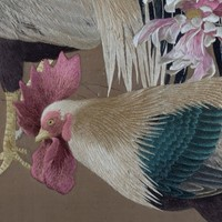 Exceptional Framed Meiji Embroidery