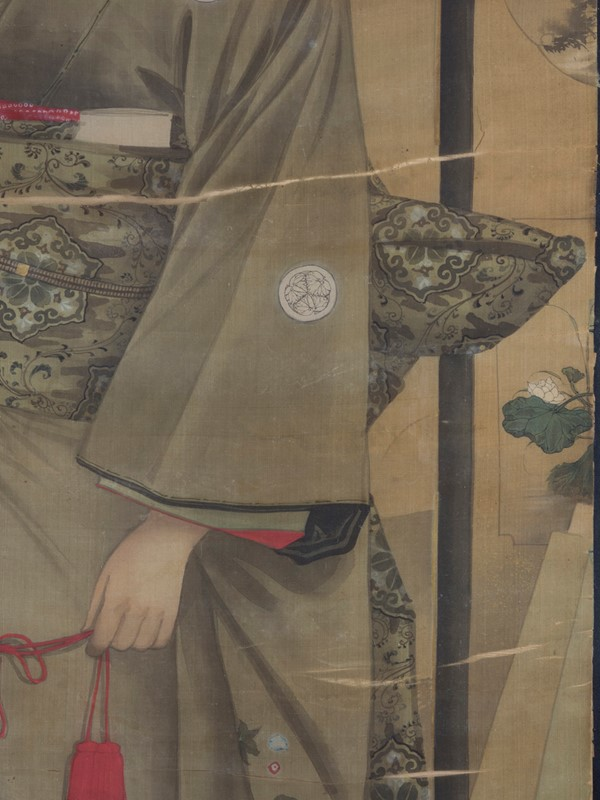 19th Century Full length Japanese Portrait on Silk-roche-coward-antiques-meiji-japanese-full-length-silk-portrait-00001-main-637209878853936185.jpg