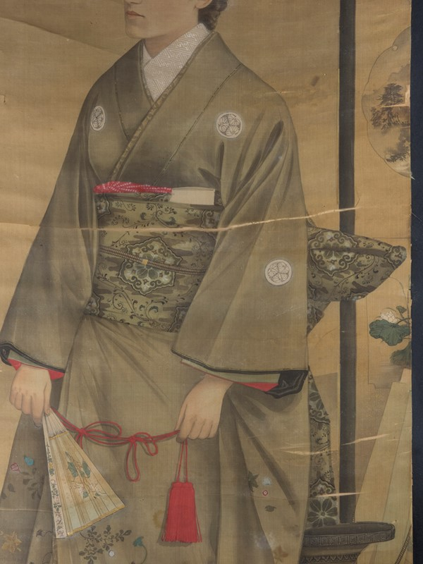 19th Century Full length Japanese Portrait on Silk-roche-coward-antiques-meiji-japanese-full-length-silk-portrait-00003-main-637209878870655150.jpg
