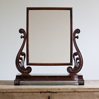 A late Regency mahogany dressing mirror