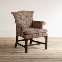 A George II style needlework upholstered armchair