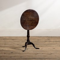 A small 18th century oak tripod table