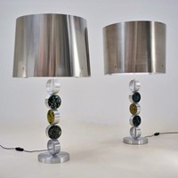 RAAK table lamps, large complementary pair