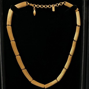 Monet Modernist gold plated gilt necklace