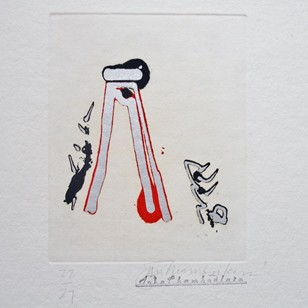 John Chamberlain signed print `One Among Many`