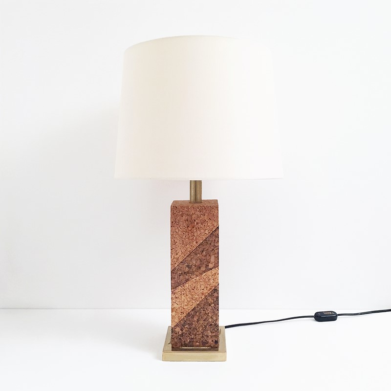 Mid Century Modern Cork & Brass Table Lamp Vintage-roomscape-brass-cork-lamp3-main-637237076956625239.jpg