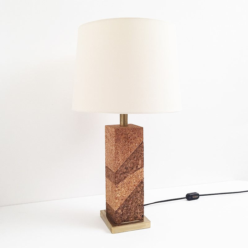 Mid Century Modern Cork & Brass Table Lamp Vintage-roomscape-brass-cork-lamp4-main-637237076977562576.jpg