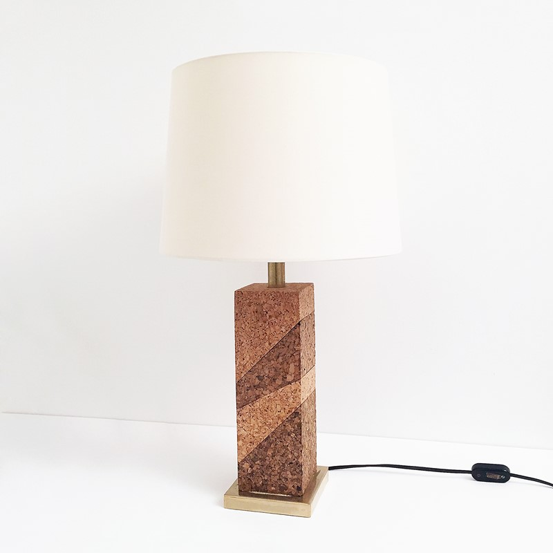 Mid Century Modern Cork & Brass Table Lamp Vintage-roomscape-brass-cork-lamp5-main-637237076996624852.jpg