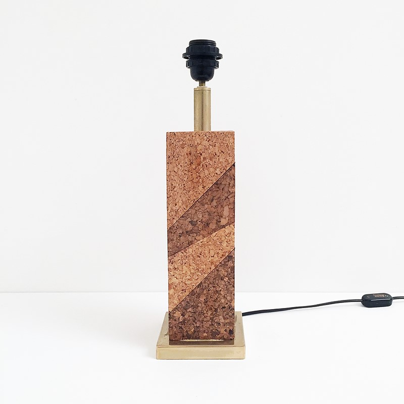 Mid Century Modern Cork & Brass Table Lamp Vintage-roomscape-brass-cork-lamp6-main-637237077016156041.jpg