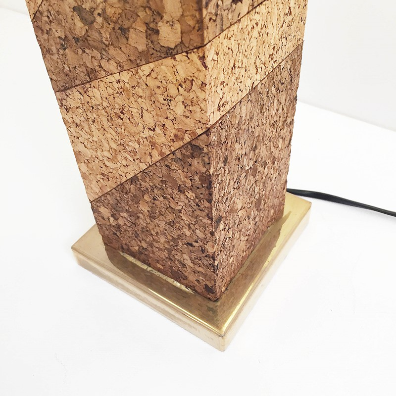 Mid Century Modern Cork & Brass Table Lamp Vintage-roomscape-brass-cork-lamp7-main-637237077036156447.jpg
