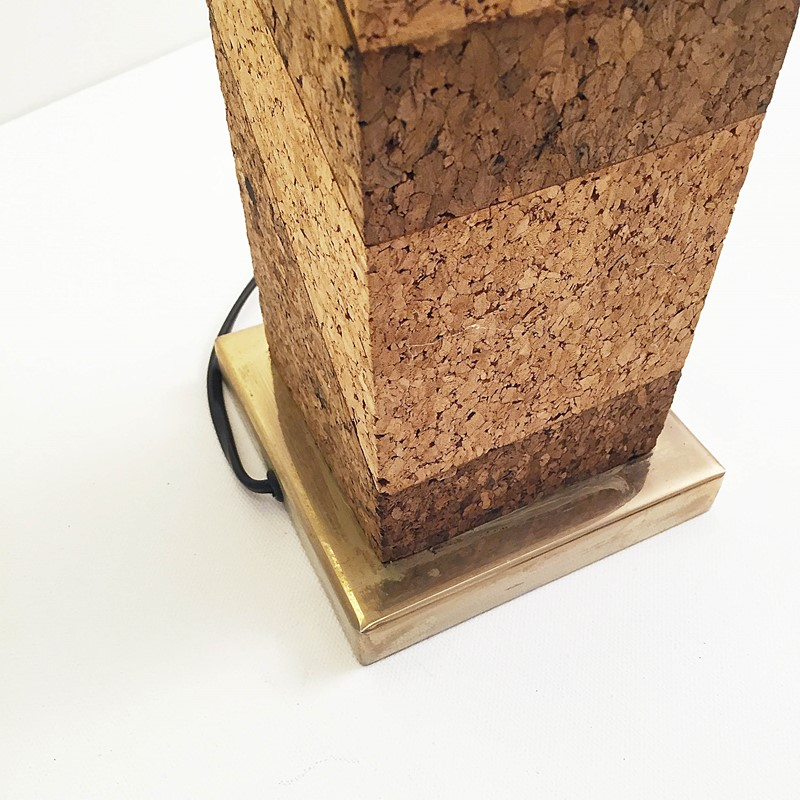 Mid Century Modern Cork & Brass Table Lamp Vintage-roomscape-brass-cork-lamp8-main-637237077057250331.jpg