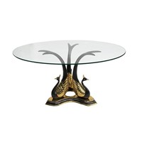 Brass Peacock Side Or Coffee Table Willy Daro