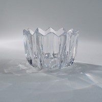 Orrefors crystal Fleur bowl by Jan Johansson