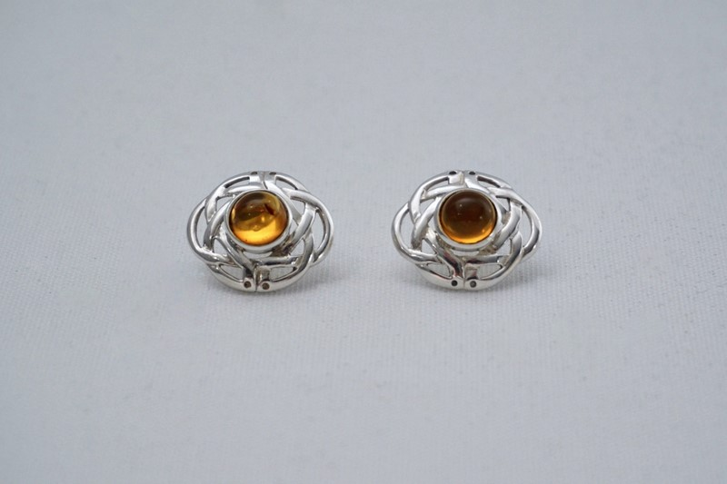 Pair Celtic knot earrings sterling silver & amber-roomscape-dsc04630-1500x999-2-main-637126856630029454.jpg