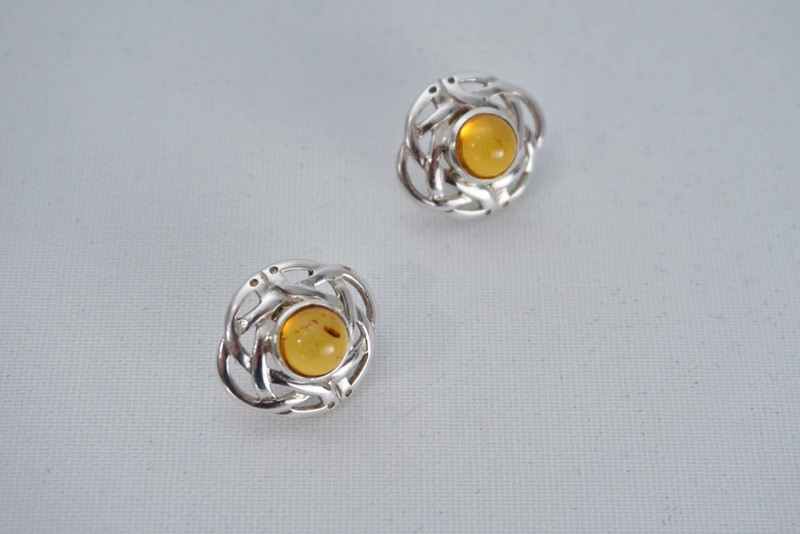 Pair Celtic knot earrings sterling silver & amber-roomscape-dsc04639-1500x1001-main-637126856678775575.jpg
