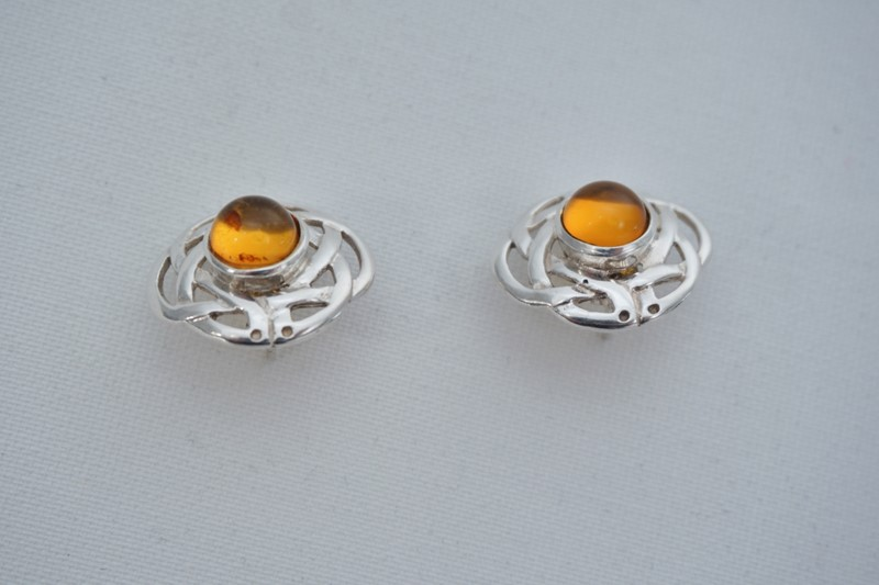Pair Celtic knot earrings sterling silver & amber-roomscape-dsc04655-1500x999-main-637126856734244432.jpg
