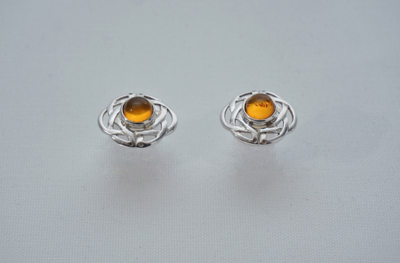 Pair Celtic knot earrings sterling silver & amber-roomscape-dsc04682-1500x988-main-637126856911743483.jpg