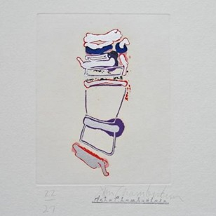 John Chamberlain print 'Little More How' 1986 USA