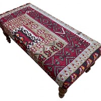 Kilim Covered Bench Stool 1.00m x 0.47m x H0.41m