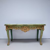 Impressive 19thc painted console/centre table