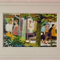 The Garden Party - Impressionist Oil by Frank Hill