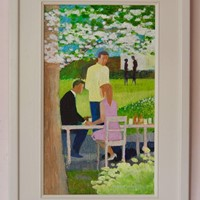 Spring Dining - Impressionist Piece by Frank Hill