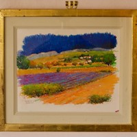 Provence South of France - 21st Century Oil Pastel