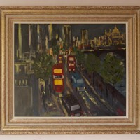 Evening Embankment - Acrylic of London by Quirke