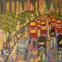 Oxford Street - Acrylic on London by Quirke