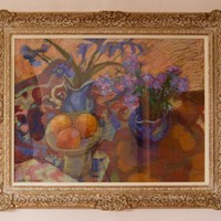 Impressionist Piece of Flowers & Fruit by Tarrant