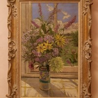 Flowers By My Window -Pastel- William Henry Innes