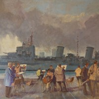 Wapping Group of Artists by the Thames by Blake