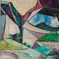Abstract Landscape - Cubist Piece by Osborne