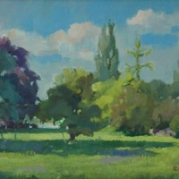 Summer Park - Impressionist Oil by Rickards