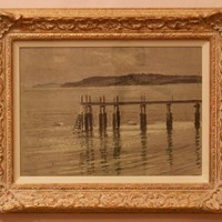Pier - Impressionist Oil Pastel by William Innes