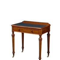 Victorian Mahogany Writing Table of Narrow Proport