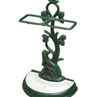 French Enamelled Umbrella Stand / Stick Stand