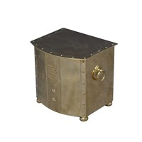 Art Deco Brass Log Or Coal Bin